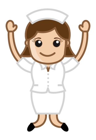 Happy Nurse - Doctor   Medical Character Concept Vector