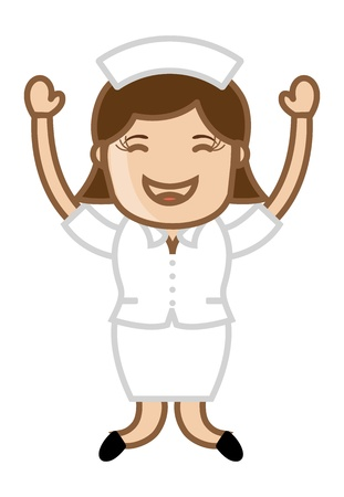 Excited Nurse - Doctor   Medical Character Concept Vector
