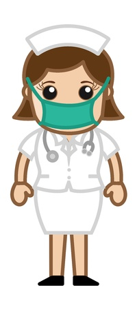 Nurse in Operation Theater - Doctor   Medical Character Concept Vector