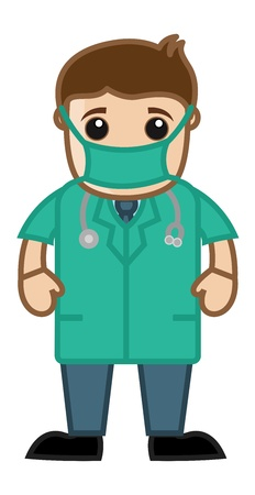Operation Theater Dress - Doctor   Medical Character Concept Vector