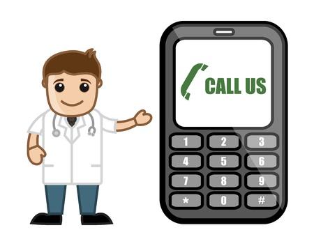 Helpline - Doctor   Medical Character Concept Stock Vector - 21280683