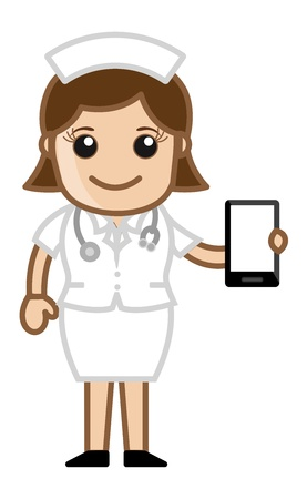 Nurse Showing Presentation - Doctor   Medical Character Concept Stock Vector - 21280719