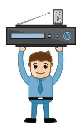 Blue Ray Player - Business Cartoons Vectors Vector