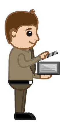 Movie Direction - Business Cartoons Vectors Stock Vector - 21313967