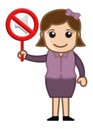 noise pollution: No Sound - Business Cartoons Vectors