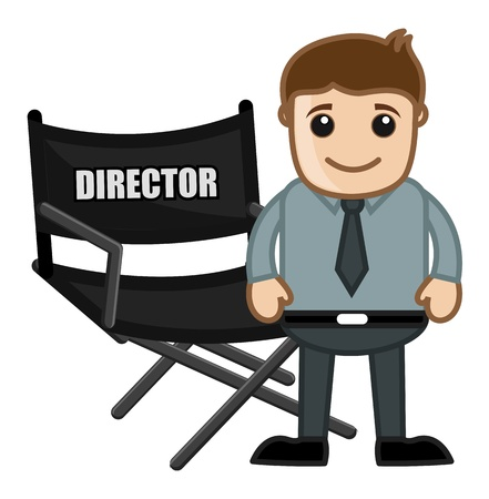 filmmaker: Director Chair - Business Cartoons Vectors Illustration