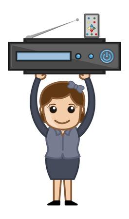blueray: Blueray Player - Business Cartoons Vectors Illustration