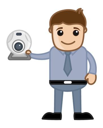 Web Cam - Business Cartoons Stock Vector - 21314015