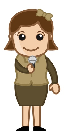 business cartoons: Anchor TV - Singer - Business Cartoons