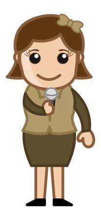 anchorman: TV Anchor - Singer - Business Cartoons
