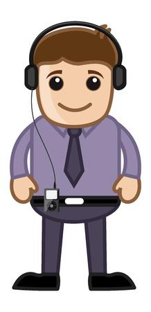 business cartoons: M�sica - Business Cartoons