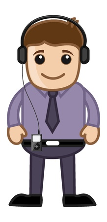 Music - Business Cartoons Vector