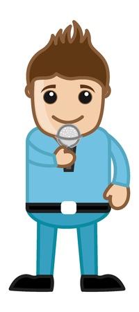 Singer - Career Choice - Business Cartoons Stock Vector - 21314030