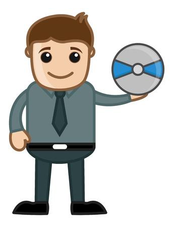 business cartoons: CD - Business Cartoons Vectores