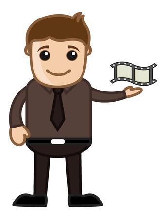 Movie Reel - Business Cartoons Stock Vector - 21310996