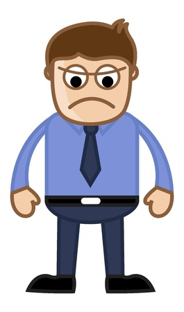 Angry Boss - Business Cartoon Character