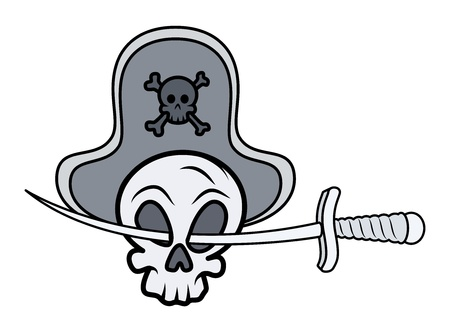 Jolly Roger - Vector Cartoon Illustration Stock Vector - 21505297
