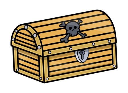 Cursed Treasure Trunk Box Vector