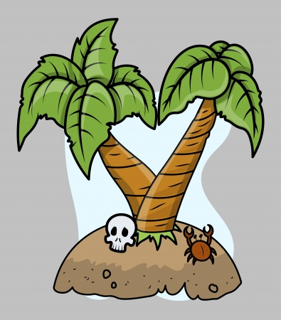 Tiny Tropical Island Vector