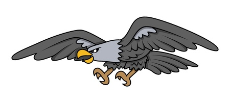Bald Eagle - Vector Cartoon Illustration Vector