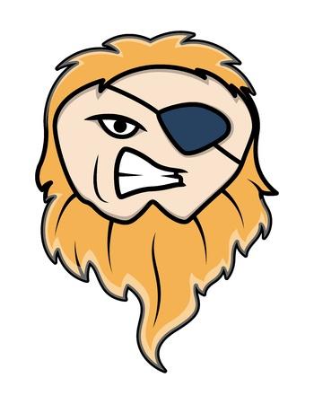 irritate: Eye Patched Long Beard Pirate