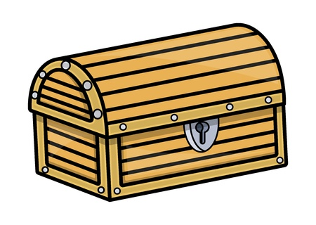 Treasure Box - Vector Cartoon Illustration Vector