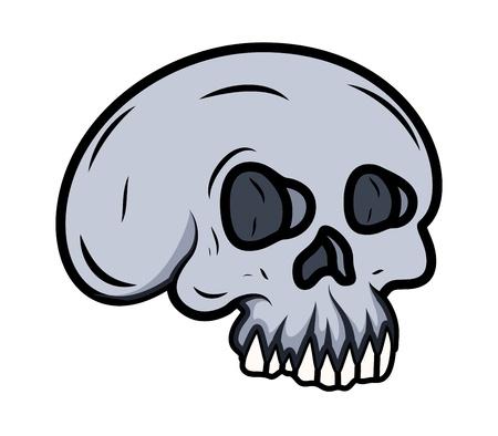 Cartoon Skull Illustration Vector