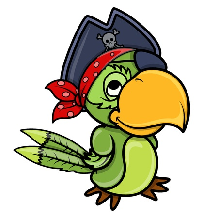 tricorn hat: Pirate Parrot
