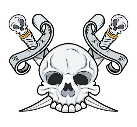 Crossed Skull Vector Vector