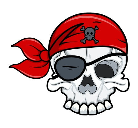 Pirate Tattoo Skull Vector