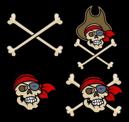 captain pirates skull - Vector Cartoon Illustration Stock Vector - 21505582
