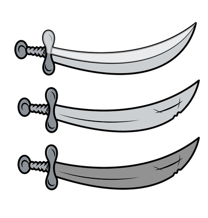 swords - Vector Cartoon Illustration Vector