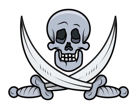 jolly roger: Jolly Roger - Vector Cartoon Illustration Illustration