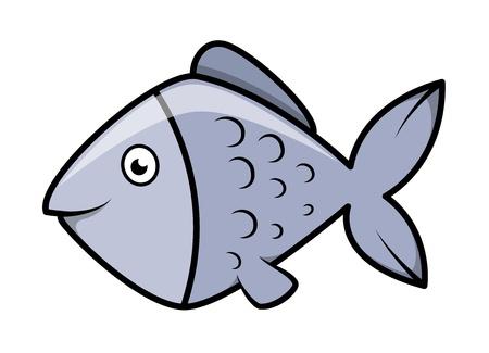 fish - Vector Cartoon Illustration Vector