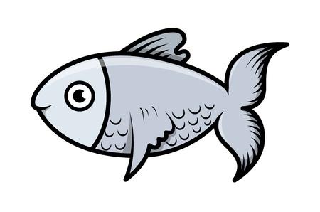 simple cartoon fish illustration Vector