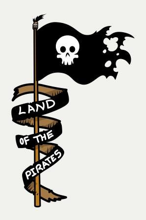 land of the pirates - Vector Cartoon Illustration Vector