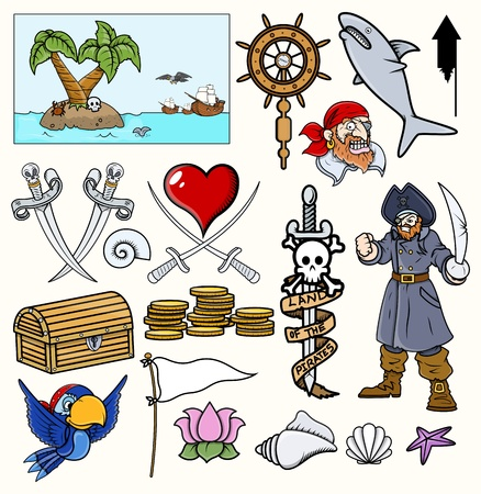 Pirate Vector Illustrations   Cartoons Vector