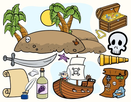 Pirate Vector Illustrations Vector