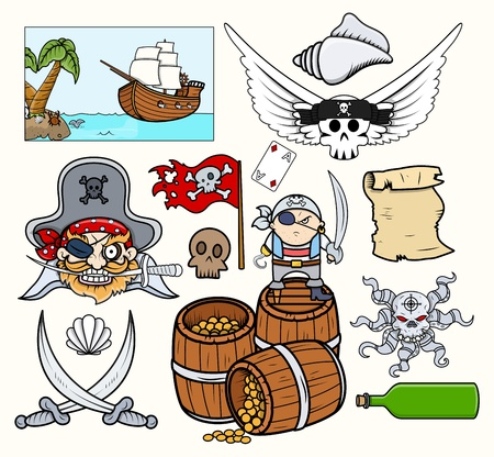 jolly roger pirate flag: Pirate Vectors Set