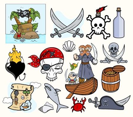 tricorne: Pirates Cartoons Illustration