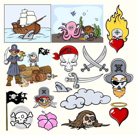 Pirates Cartoon Vector