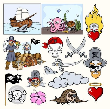Pirates Cartoon Stock Vector - 21505998