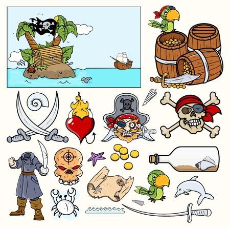 Pirate Illustrations – Vector Designs Stock Vector - 21506014