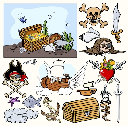 Pirates Vector Illustrations Vector