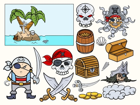 Pirate Illustrations Vector