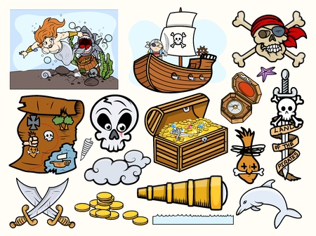 Pirates Vector Elements Collection Vector