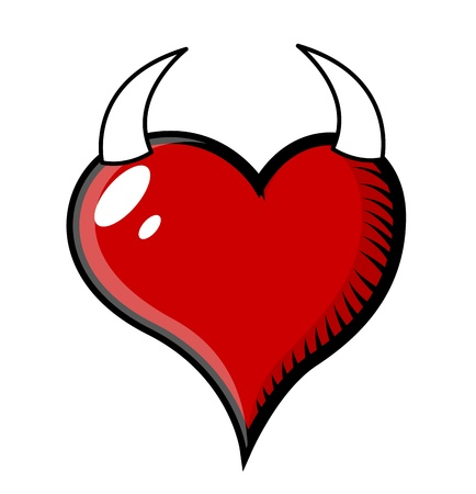 love sad: Devil Heart Vector