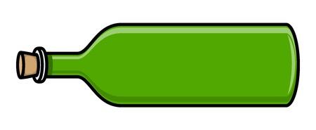 whisky bottle: Cork Whisky Bottle - Vector Illustration
