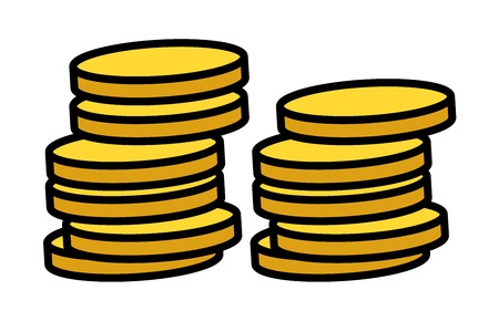 coins stack: Gold Coins Stack - Vector Illustration