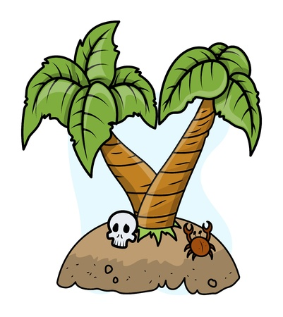 Abandoned Island - Vector Illustration Vector